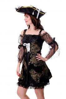 DRESS ME UP Kostüm Damenkostüm Kleid Funkenmarie Barock Piratin Seeräuberin Gr. S/M - Vorschau 2