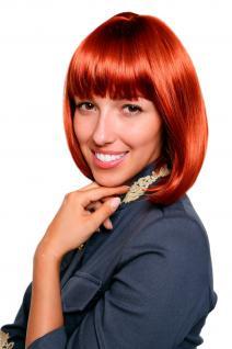 Perücke Page/Bob rot gerade glatt Sexy Gouvernante wig perruque 7803-135 25 cm