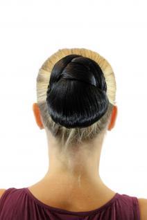 Tango Haarteil geflochten Zopf Dutt Haarknoten Tracht Schwarz Oval TC-2074-2