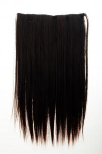 Haarteil Haarverlängerung breit 5 Clips dicht glatt Braun-Mix 60 cm L30172-2T33