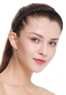 Haarband Haarreif geflochten Tracht traditionell dunkelbraun braid CXT-004-003