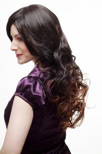 Sexy Perücke Damenperücke Ombre Hair Braun Rotbraun Mischung lang gewellt SA070 - Vorschau 3