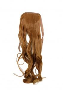 Haarteil ZOPF Kupfer-Blond wellig 45cm YZF-TC18-27 Band Klammer Haarverlängerung