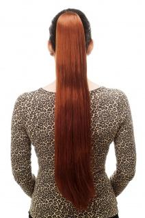 Haarteil/Zopf sehr lang glatt Butterfly-Klammer ca 70cm Rot Haar T113-130