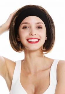 Perücke Damen Stirnband kurz glatt 80er Retro Look Braun Blonde Spitzen GFW948
