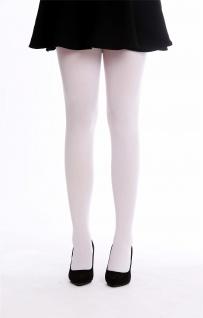 Strumpfhose Pantyhose Damenkostüm Karneval Halloween dehnbar weiß S/M WZ-012W - Vorschau 2