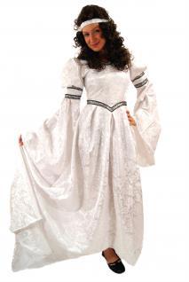 Kostüm Jaquard KLEID Märchen Mittelalter Gothic Romantik weiß K22 - Vorschau 3