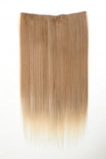 Haarteil Haarverlängerung breit 5 Clips dicht glatt Blond-Mix 60cm L30172-27T613