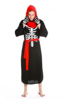 Kostüm Herren Damen Halloween Skelett Knochengerippe Mönch Zombie Dämon Gr. S/M - Vorschau 2