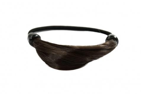Unsichtbarer Haargummi in Haaroptik Kunsthaar Zopfgummi Braun NHA-003B-6