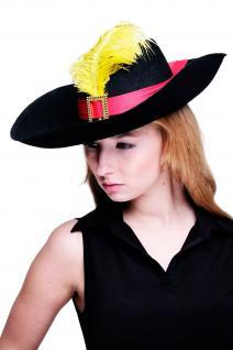 Hut Fasching Karneval Musketier Freibeuter Pirat Edelmann Gestiefelter Kater H14