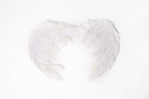 Halloween Karneval Flügel Federn Weiß Engel Engelchen Schwan Heiliger Geist Goth - Vorschau 2