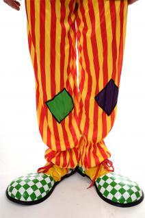 Karneval Zirkus Kinderparty Übergroß Clownschuhe Clown grün weiß kariert VQ-026E - Vorschau 4