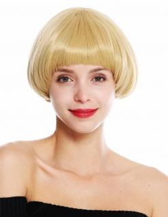 Damenperücke Perücke Damen kurz Klassischer Bob Voluminös Französisch Blond