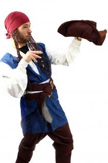 Kostüm Pirat Herren Karibik Freibeuter Piratenkostüm Jack Carribean Pirates K19 - Vorschau 3