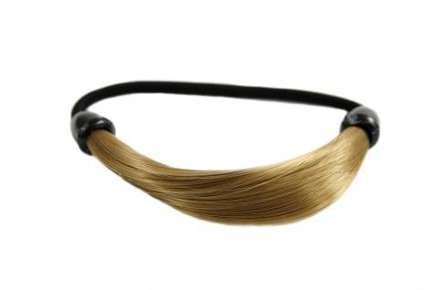 Unsichtbarer Haargummi in Haaroptik Kunsthaar Zopfgummi Aschblond NHA-003B-22T