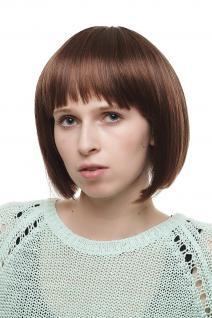 Damenperücke Perücke voluminöser Bob in gemischtem Braun/Kastanie 25cm 2304-2T30