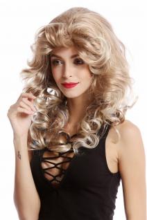 Damenperücke Perücke Star Diva blond lang gewellt voluminös toupiert 80er 55cm