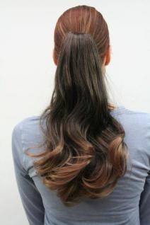 Haarteil, schwarz/braun helle Spitzen LM58-1BT27 40 cm