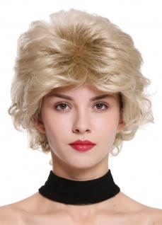 Damenperücke Perücke Frauen kurz wild toupiert wellig 80er Jahre Blond M-270-22