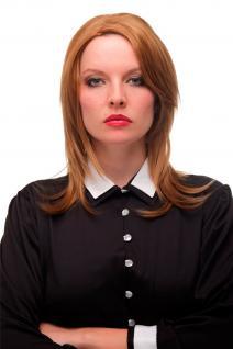 Damen Perücke Cosplay glatt toupiert Scheitel Erdbeerblond Blond 50 cm GFW2205