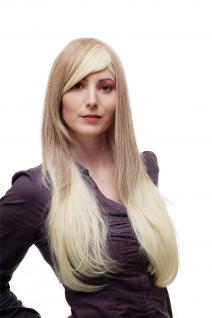 Sexy Perücke Damenperücke Ombre Hair Dunkelblond Platin Mix lang glatt SA062