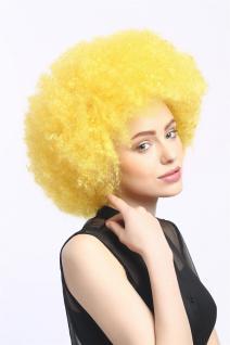 Perücke Karneval Fasching Großer Afro Afroperücke XXL Gelb Neongelb XR-002-PC2B - Vorschau 2
