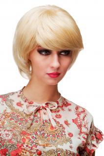 Supersüße Damenperücke Perücke Blond Hellblond Mix Scheitel kurz voluminös E-039