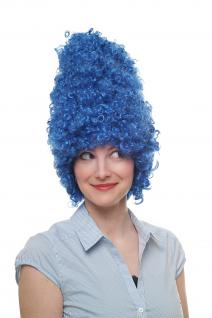 Fasching Karneval Halloween Perücke Beehive Wig Barock Drag Queen Blau 8648-PC3