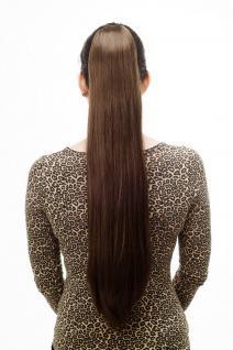 Haarteil/Zopf, sehr lang, glattes Haar, Butterfly-Klammer, ca. 70 cm, Braun, T113-8