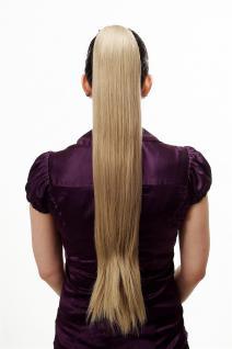 Haarteil/Zopf, sehr lang, glatt, Butterfly-Klammer, ca. 70 cm, Blond-Mix, T113-613L/18