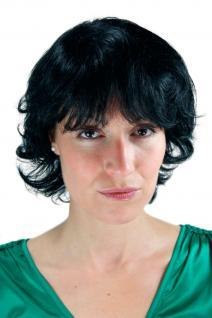 Damen Kurzhaarperücke leicht strubbig schwarz kurz toupierte Haare 25cm 26062-1