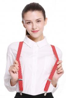 Hosenträger Suspenders Karneval Halloween rot weiße Punkte BB-040R-red
