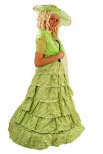 Kolonial Kostüm Kleid Barock Biedermeier Südstaaten Civil War Unabhängigkeit K26 - Vorschau 2