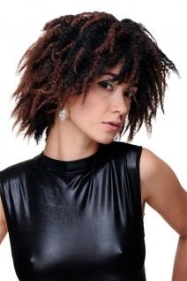 Damenperücke Perücke Karibik Afro Schwarz Mahagoni Krepplocken Volumen GFW1836