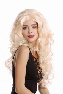Perücke Damen Karneval Fasching blond Locken wellig Volumen Mittelscheitel 70631
