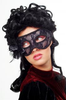 Karneval Venezianische Maske Halbmaske Domino Schwarz Maskenball Gothic LS-004 - Vorschau 3