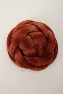 Dutt Haarteil aufwendig geflochten Haarknoten Brautschmuck Kupfer-Rot Q399D-350 - Vorschau 5