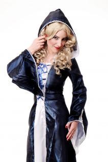 Kostüm Damenkostüm Blaues Kleid Haube Mittelalter Elfe Fee Magierin Cosplay L080 - Vorschau 2
