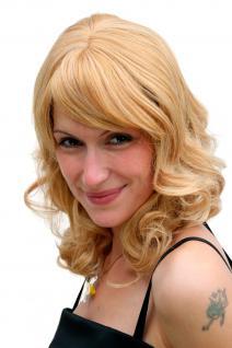 Damenperücke, Wig, blond, schulterlang, gewellt, schulterlang, 40 cm, 6370-611B