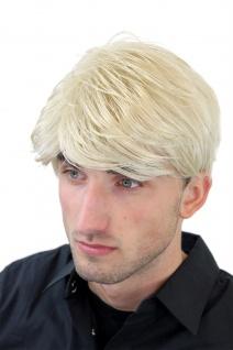 Perücke Herren Männer Kurz Jugendlich Lässig Modisch Blond Scheitel GFW967-22 - Vorschau 2