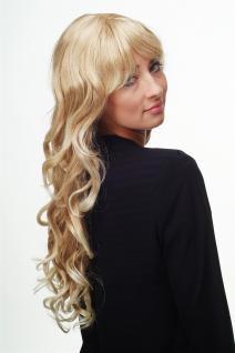 Damen Perücke Blondmix Locken Wellig Lang Seitenscheitel ca. 70 cm 9204S-15BT613 - Vorschau 3