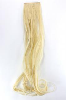 2 CLIP Extension Strähne wellig Licht-Blond YZF-P2C18-613 45cm Haarverlängerung