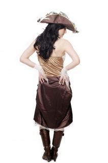 Kostüm Damen Damenkostüm Set Piratin Piratenbraut Freibeuterin L051 - Vorschau 3