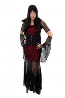 Aufwändig & Sexy Kostüm Kleid Böse Hexe Vampirin Gothic Vamp Witch Märchen L007