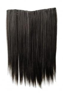 Haarteil breit Haarverlängerung 5 Clips glatt Grau-Mix 45cm Extension L30173-44