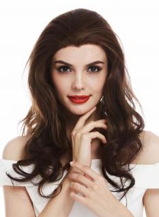 Perücke Damenperücke Lacefront Lace lang edel gelockt Braun Mix CM-115-LF wig