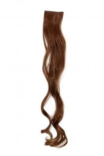 2 Clips Strähne wellig Dunkel-Asch-Blond YZF-P2C25-12 65cm Haarverlängerung