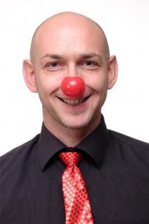 Karnevalsartikel Clownsnase rote Nase aus Plastik red nose day Clown VQ-044-red
