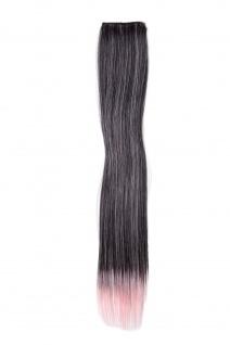 2 CLIP Extension Strähne Haarverlängerung Rosa glatt 45cm YZF-P2S18-1BT2333